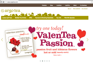 Argo Tea website (Bad Design)