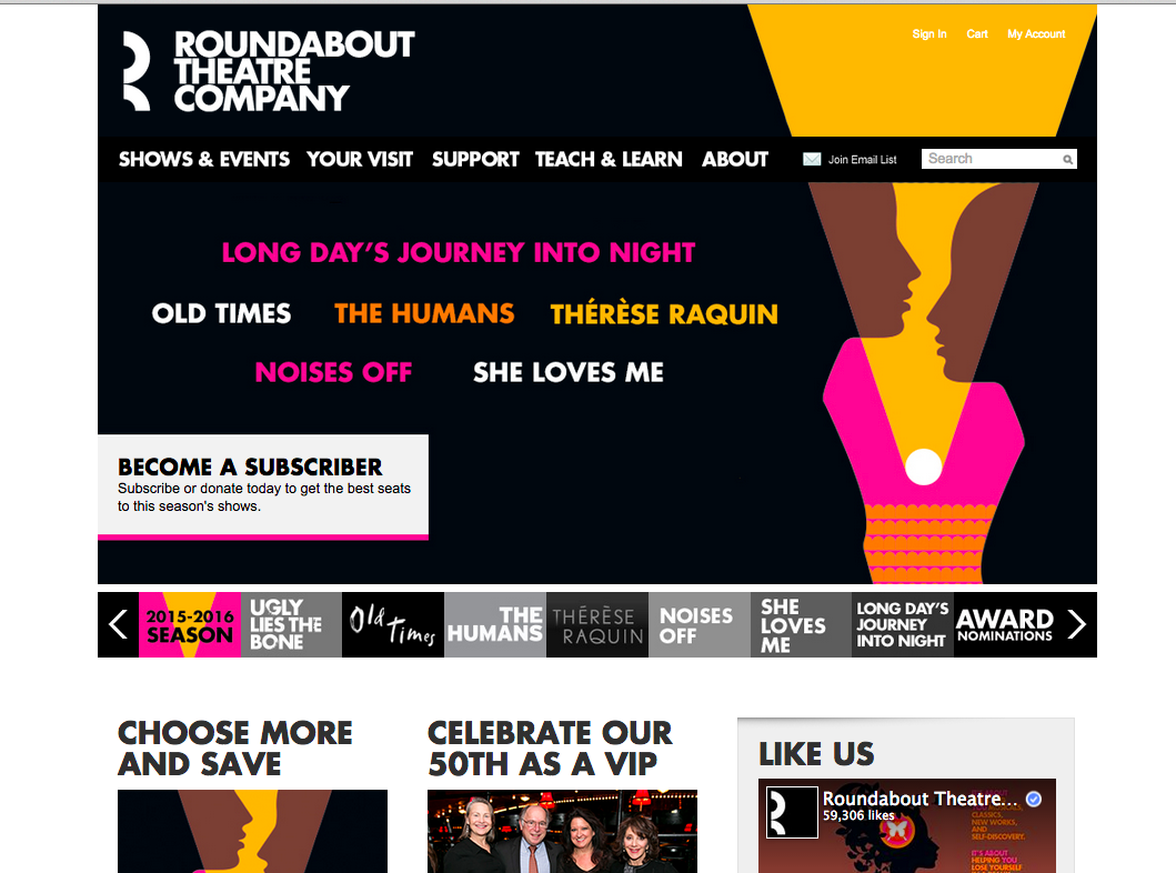 Design Critic: The Roundabout Theatre Company Website