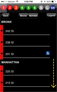 Swipe down every time to find your stop! Hope its not South Ferry…