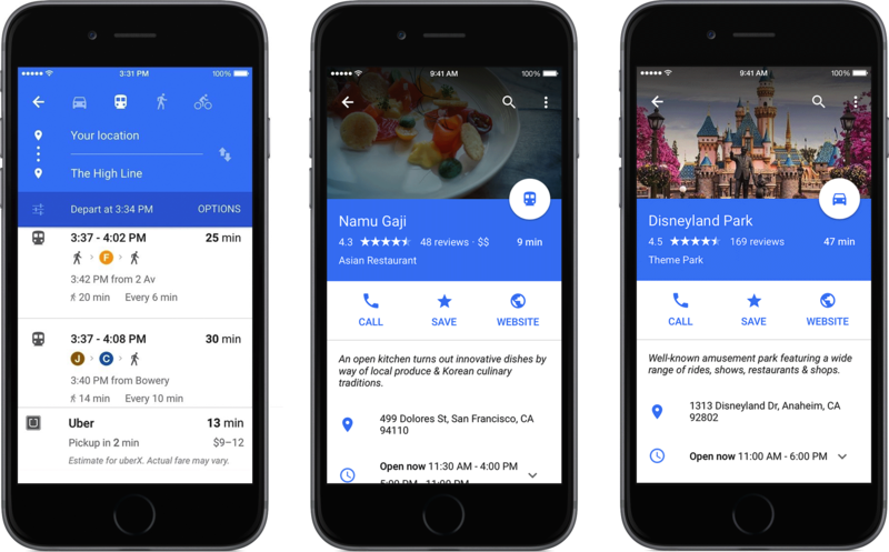 Design Critique: Google Maps App