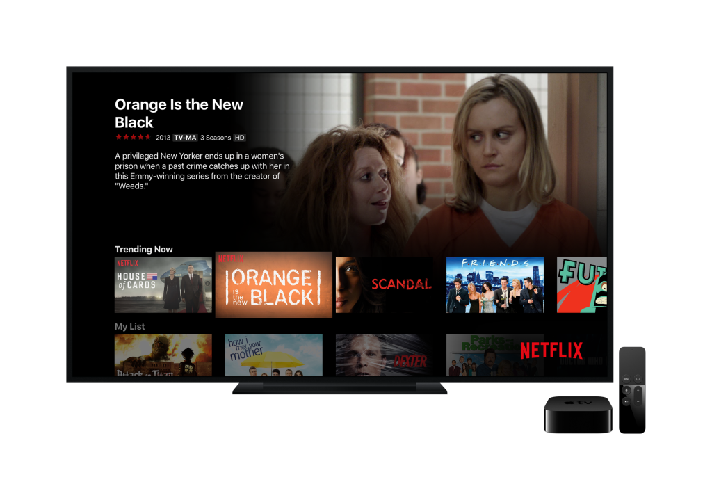 Netflix interface on the new Apple TV