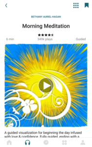 Meditation selection page