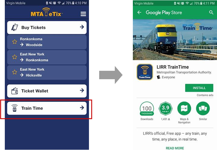 Design Critique: MTA eTix (Android app) • Information Experience