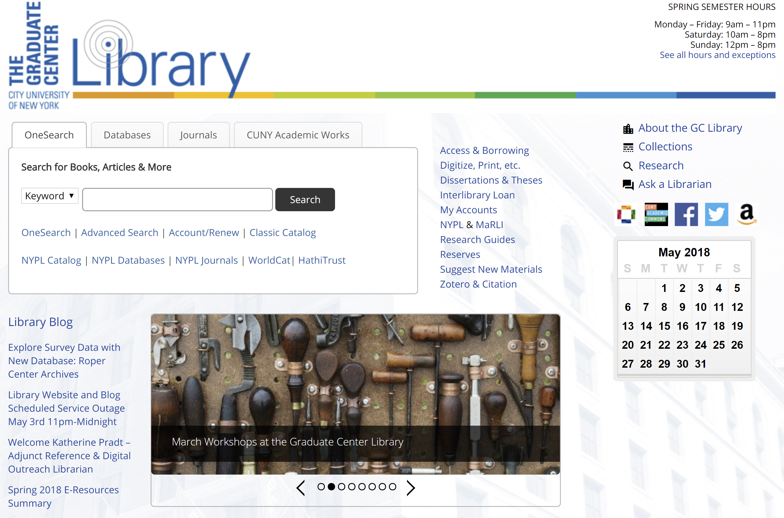 Redesigning the CUNY Graduate Center Library's Website: A