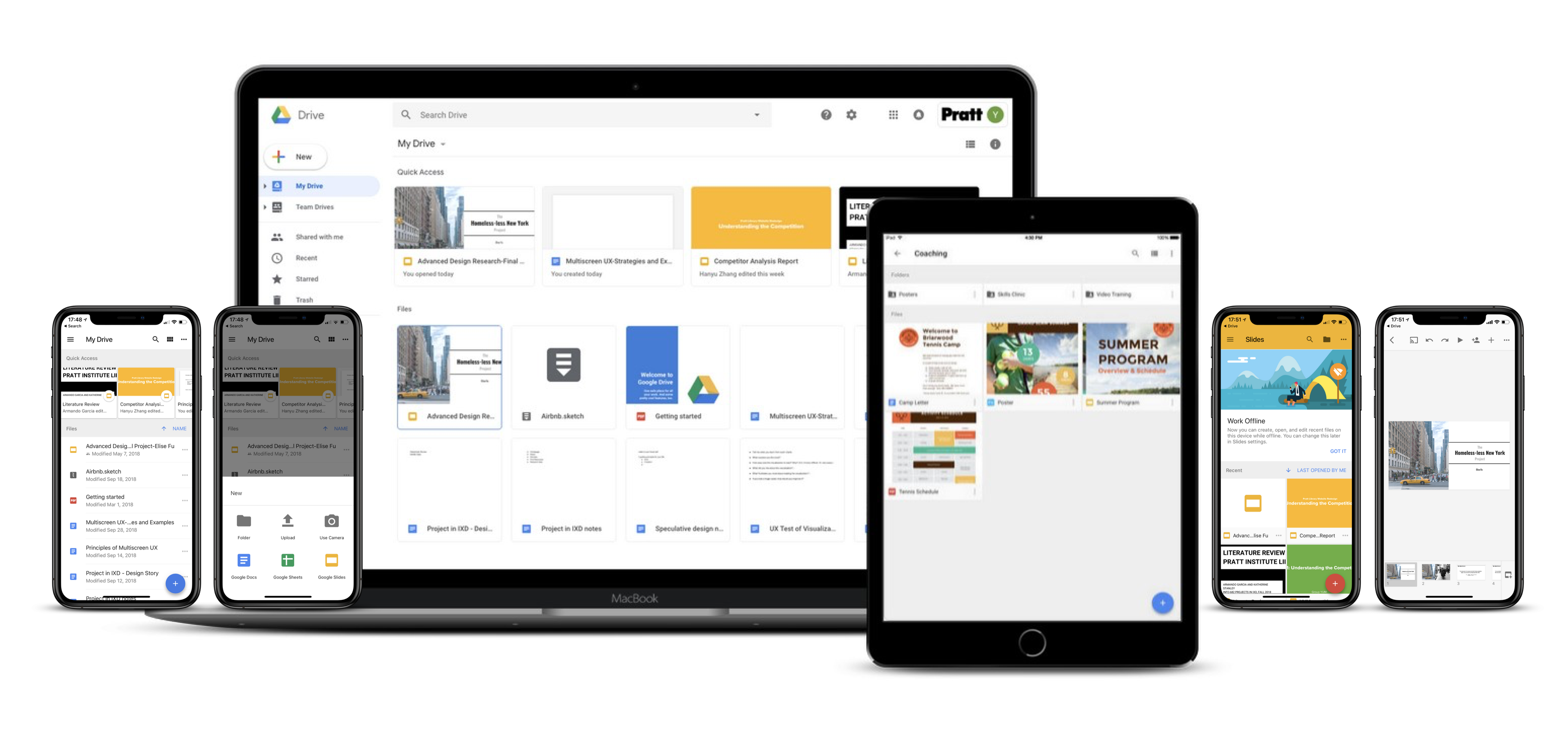 Google Drive and Slides-Multiscreen UX