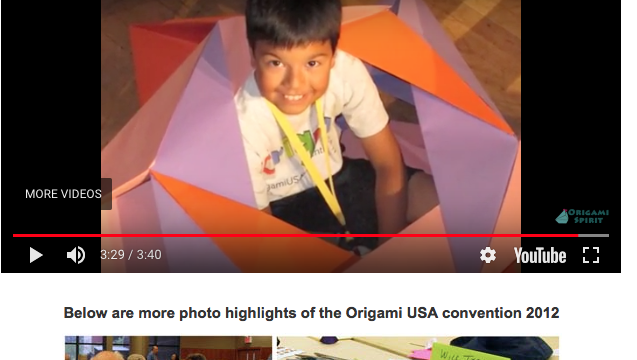 child in origami star box