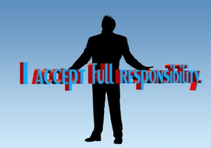 I accept full responsibility picture with man