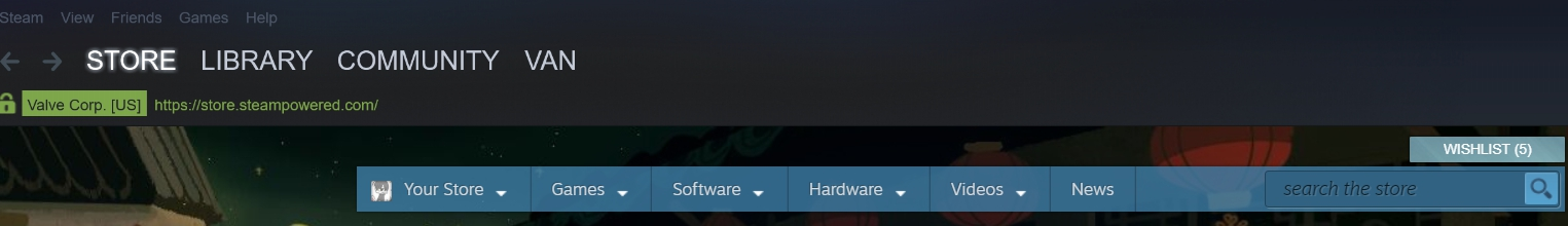 Three tool bars on steam page