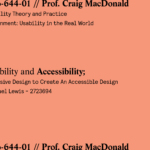 Usability and Accessibility: Inclusive Design to Create an Accessible Design