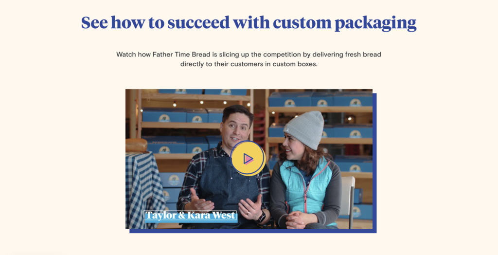 Founders' story on homepage (www.packlane.com)
