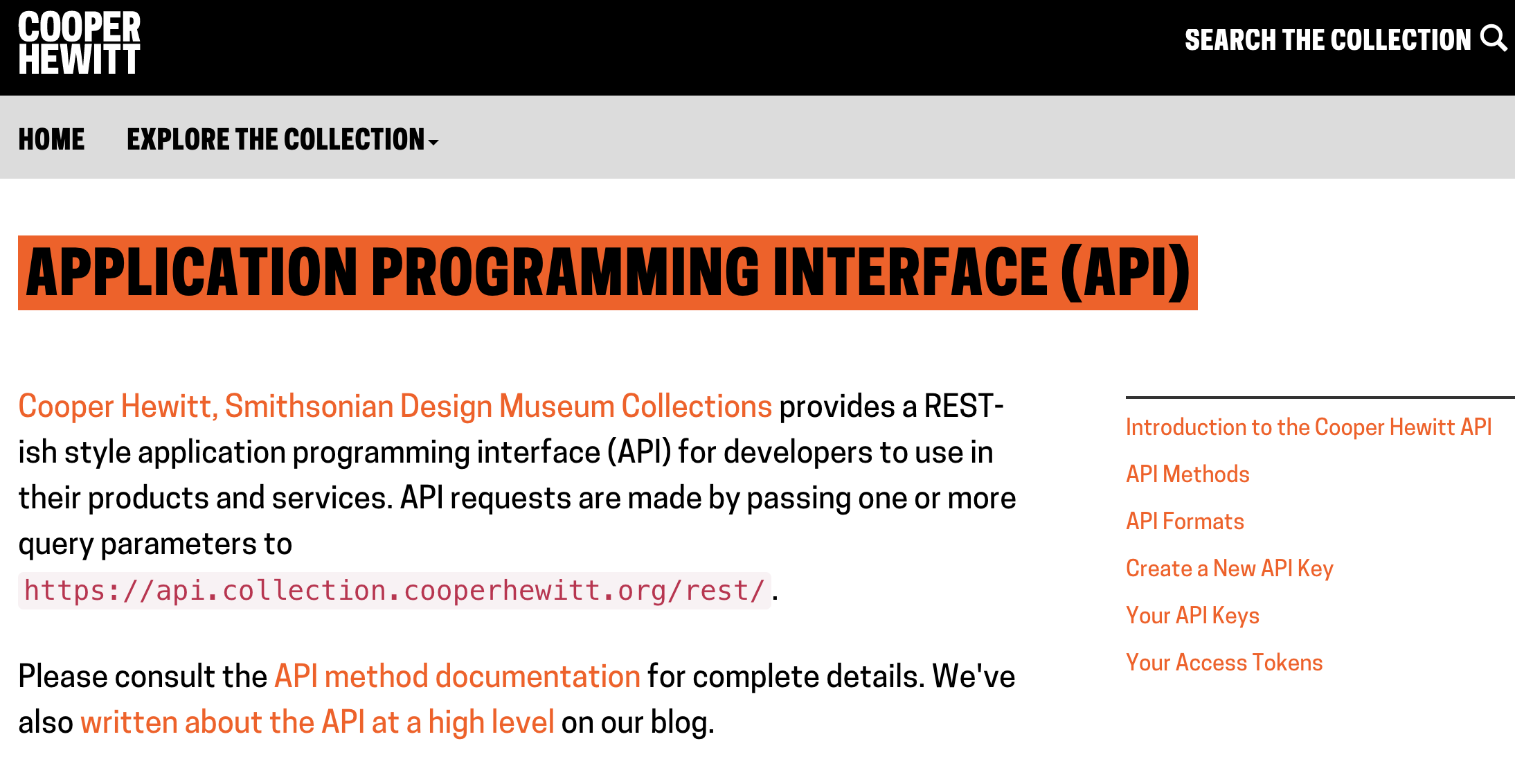 Cooper Hewitt API Introduction